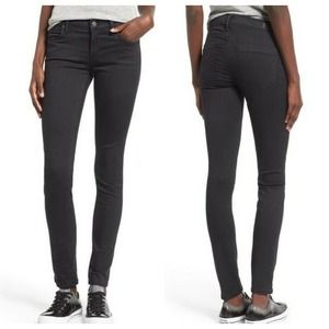 Agolde Colette Skinny Faded Black Jeans Low Rise